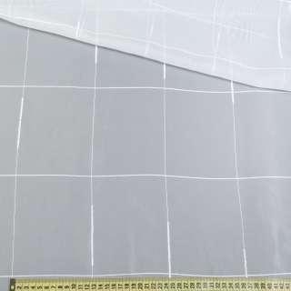 Вуаль молочная с ниточными, атласными полосками, с утяжелителем, ш.300 оптом