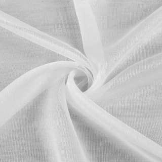 Вуаль біла з густими нитковими смужками з обважнювачем ш.300 оптом