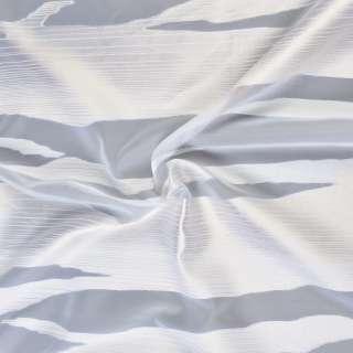 Вуаль деворе белая в молочно-бежевые волны, ш.140 оптом