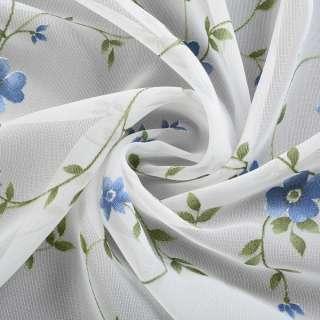 вуаль Деваре молочная с зелен.вьюнком и син.цвет.ш.280 оптом