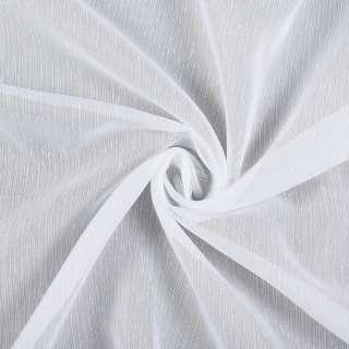 Лен гардинный белый в тонкие ниточные штрихи с утяжелителем, ш.300 оптом