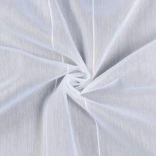 Лен гардинный белый в ниточные полосы, с утяжелителем, ш.180 оптом