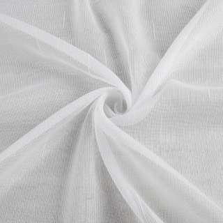 Льон гардинний смужки ниткові блискучі, білий з обважнювачем, ш.250 оптом
