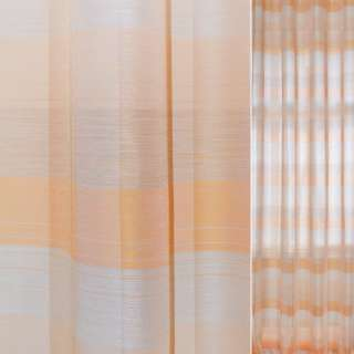 лен жак. персиковый в оранжево-серую клетку Германия ш.150 оптом