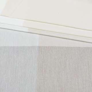Лен гардинный белый в бежевые широкие полоски, с утяжелителем, ш.300 оптом