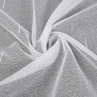 Лен гардинный белый в точку и ниточные полосы с уплотнениями с утяжелителем, ш.260 оптом