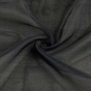 Органза тюль смужки ниткові густі сірі темні, сіра з обважнювачем, ш.250 оптом
