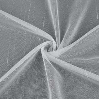 Мікросітка тюль смужки штрихи ниткові біла з обважнювачем, ш.150 оптом