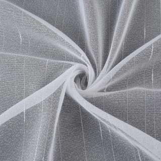 Мікросітка тюль смужки ниткові з ущільненнями, біла з обважнювачем, ш.260 оптом