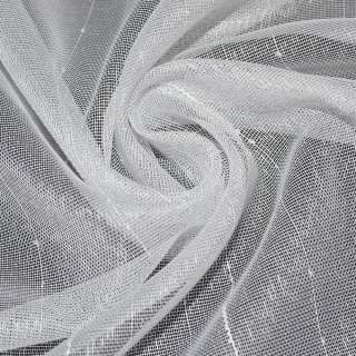 микросетка белая блестящая с узкими полосками Германия ш.180 оптом