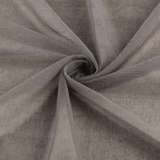 Мікросітка тюль коричнева матова з обважнювачем, ш.300 оптом