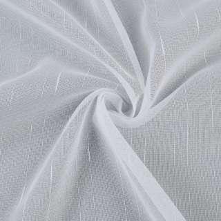 Мікросітка тюль смужки ниткові з ущільненнями, біла з обважнювачем, ш.300 оптом