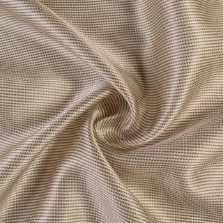 Микросетка молочная с бежево-коричневой шелковой нитью, ш.150 оптом