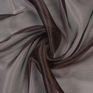 Микросетка хамелеон коричневая темная, с утяжелителем, ш.300 оптом