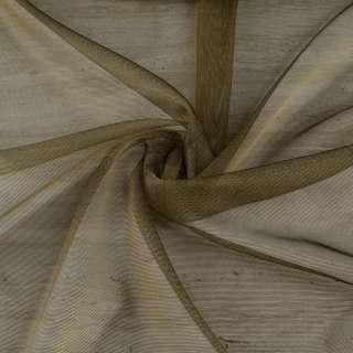 Мікросітка тюль хамелеон оливкова темна з обважнювачем, ш.300 оптом