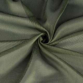 Мікросітка тюль хамелеон зелена з обважнювачем, ш.300 оптом
