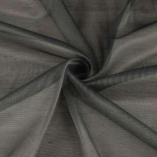Мікросітка тюль хамелеон сіра темна з обважнювачем, ш.300 оптом