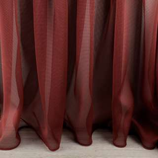 Мікросетка гардинна бордово-чорна з обважнювачем ш.300 оптом