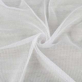 Сітка тюль з ниткою щільної білої, біла з обважнювачем, ш.300 оптом