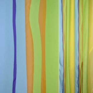 Деворе портьерное радуга салат-голубое ш.140 оптом