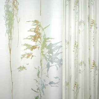 Деворе портьерное белое с серебристо-зелено-бирюзовыми деревьями ш.140 оптом