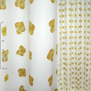 Деворе портьерное белое с желтыми цветами ш.150 оптом