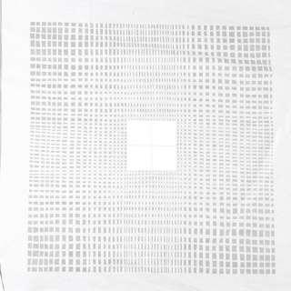 Деворе портьерное белое с мелкими прозрачными прямоугольниками и белыми квадратами ш.140 оптом