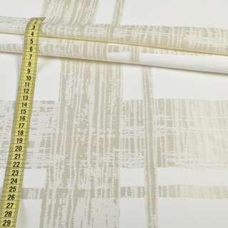 Кристал-атлас молочный в жаккардовые полосы, ш.145 оптом