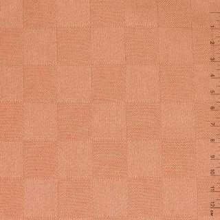 "Ткань скатерная терракотово-розовая ""шахматка"", ш.140 оптом"