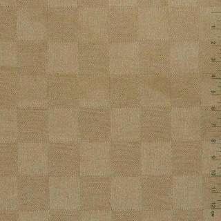 """Ткань скатерная светло-коричневая """"шахматка"""", ш.140 оптом"""