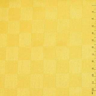"""ткань скатерная ярко-желтая """"шахматка"""", ш.140 оптом"""