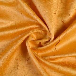 Атлас жакард для штор креш жовтий, ш.140 оптом