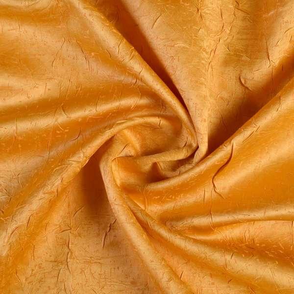 Атлас жаккардовый креш желтый, ш.140 оптом