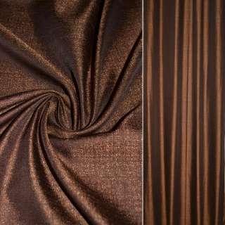 Креп лен коричневый с огненно рыжими вкраплениями ш.140 оптом