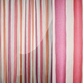 Муслин кремовый в розовую,горчичную полосу ш.280 оптом