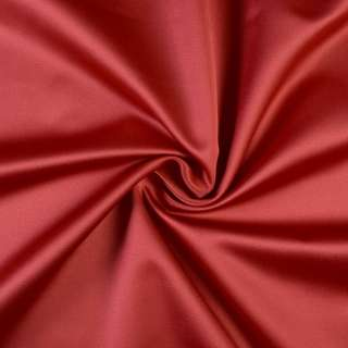 Сатин портьєрний червоний темний, ш.150 оптом