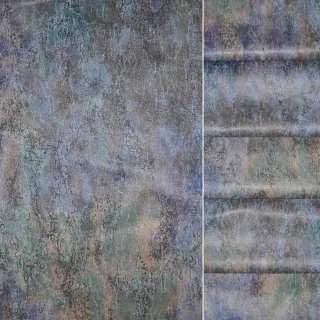 Сатин в сине сиреневые разводыш.140 оптом
