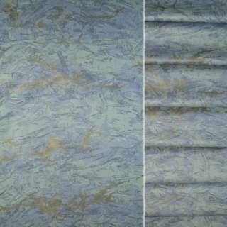 Сатин портьєрний зелено блакитна абстракція ш.140 оптом