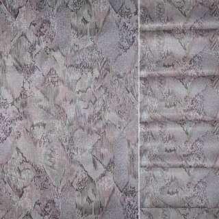 Сатин в серо графитово розовую абстракцию ш.140 оптом