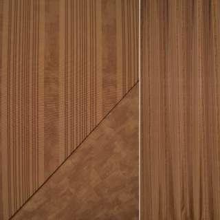 Сатин портьерный коричневый в светлые полосы ш.148 оптом