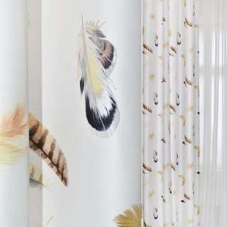 ДЕКО коттон белый с перьями Германия ш.138 оптом