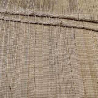 Тафта порт. жатая бежево-коричневая, ш.140 оптом
