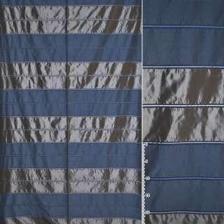 Тафта в серые и синие двойные полосы ш.145 оптом