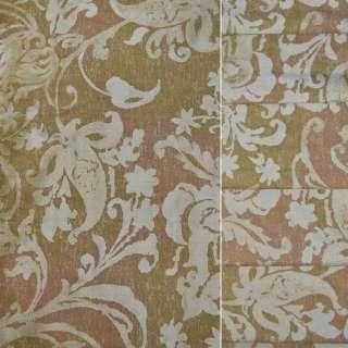 Тафта золотая в растительный узор ш.140 оптом