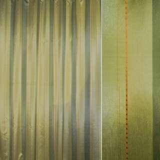 Шелк салатовые,зеленые полосы с шениллом ш.280 оптом