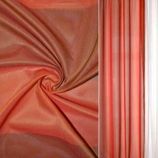 Шелк прозрачный в коричнево-красные квадраты Германия ш.145 оптом