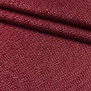 Рогожка вискозная интерьерная бордовая ш.140 оптом