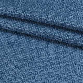 Рогожка вискозная интерьерная темно-голубая ш.140 оптом