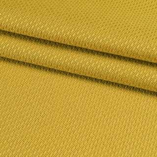 Рогожка віскозна інтер'єрна золотисто-жовта ш.140 оптом