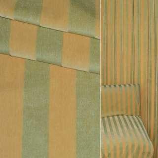тканину оббивши. в жовто-зелену смужку (велюр) ш.150 оптом